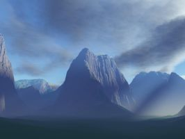 Peaceful Mountains v2 by stormdancerr