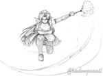 Mighty Maid Natsume by shadowpencil