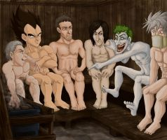 My favorite character's in a...sauna?! by SessKaka