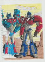 Optimus Prime and Ultra Magnus by reclaimerart