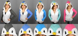 Penguin Hoodies by SewDesuNe
