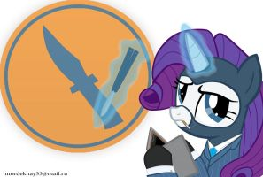 Rarity spy (Team Fortress 2) MIP by Mordekhay33