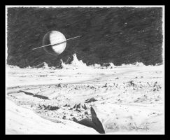 Saturnian Moonscape 4 by CitizenOlek