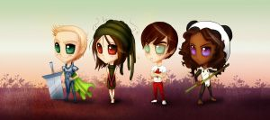 PS Chibi Characters P4 by CGCookie