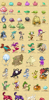 53 ataraxia creature sprites by Nebelstern