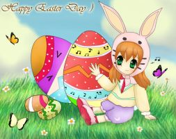 CE : Easter Eggs and bunny by Ferina-san