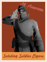 Saluting Soldier Cigars Poster: RED by Kyo-comics
