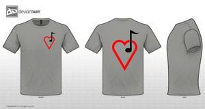 Simple Music Heart T by mrento