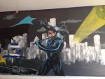 Nightwing portion of DC Mural by Excalibur14
