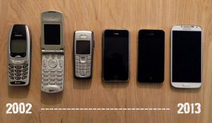 My Cell Phones Through the Ages by StephenSchaffer