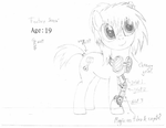 MLP OC: Factory Sense - YOUNGER (Sketch) by Colonel-Majora-777