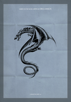 The girl with the Dragon Tattoo minimal Poster by Draganja