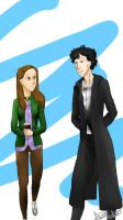 Sherlolly Walking by stasi-theanimenerd