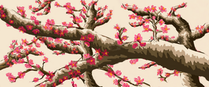 Cherry Blossom Trees by maddyline1998