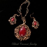 Ruby Set by blackcurrantjewelry