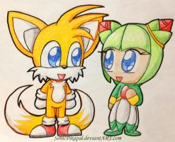 Chibi Tails and Cosmo by SonicPikapal