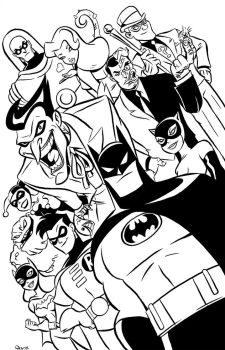 Batman the Animated Series Poster by Scoot by scootah91