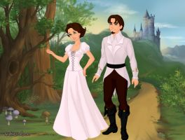 Rapunzel and Flynn Rider's Wedding Day by Kailie2122