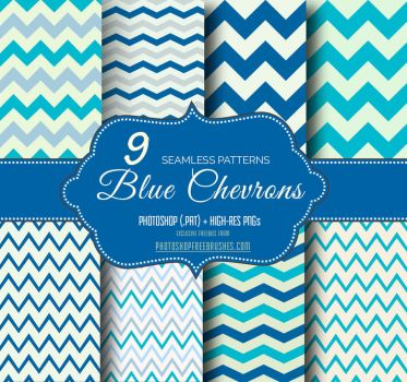 Blue Chevron Seamless Background Patterns by fiftyfivepixels