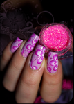 one stroke pink flowers by Tartofraises