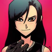 War-face Wednesday: Tifa by AndrewKwan