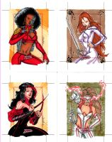 Marvel Dangerous Divas cards 5 by SpiderGuile
