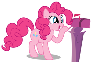 Pinkie Pie - Smiling to the Mailbox by abydos91
