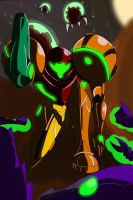 Metroid samus powersuit by EPICamiture2099