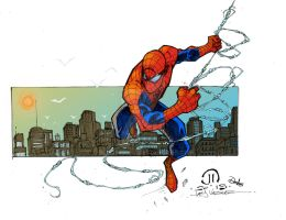 Spiderman Swinging by Plugin848y