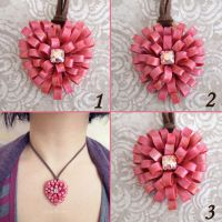 Heart Ribbons Pendant by popnicute