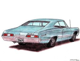 1967 Chevrolet Impala Coupe by TwistedMethodDan