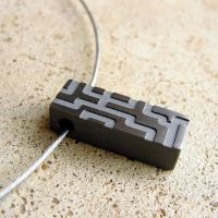 Titanium Circuit Bar Necklace by Men-koi