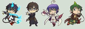 Ao No Exorcist Group by amasugiru