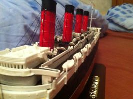 RMS Lusitania 1:350 Scale pt4 by Crystal-Eclair