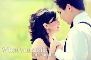 when you smile, i melt inside by ycksuryadi