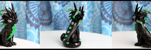Black and Green Sculpey Dragon For Sale by Tiffany-Tees