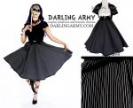 Jack Skellington Vintage Inspired Cosplay Skirt by DarlingArmy