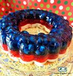 4th of July No Bake Jell-o Cheesecake by SugiAi