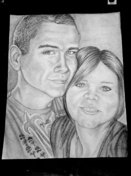 collin and tasha face portrait by cambridgehorseygal