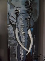 Semi abstract Elephant by ProAir