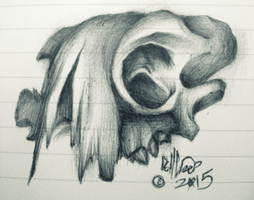 pen skull 2 by DollCreep
