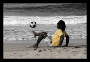 Soccer at the Beach by Fractal-Flux