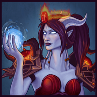 Draenei Shaman Icon by lausr