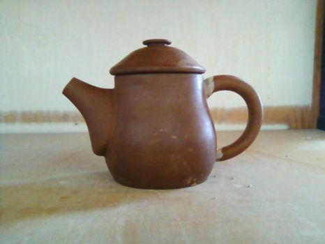 Tiny Red Clay Teapot by Halfling-J