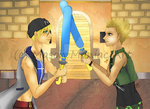 KH: Seifer and Hayner Brawl by Swag-Thomas-Stroker