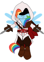 Assassin Rainbow Dash by animalpainter