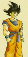 Goku Coloring by Trunks777