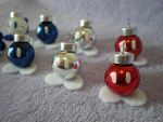 Bob-Omb Holiday Ornaments by Omonomopoeia