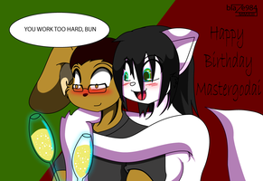 Happy Birthday Mastergodai 2 by blaze984