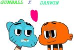 Gumball and Darwin in love by mrcrowley12